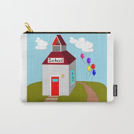 An Ole School House with Balloons Carry-All Pouch