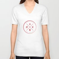 nightcrawler V-neck T-shirts featuring Nightcrawler Logo by Nightcrawlerstuff