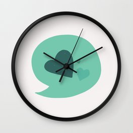 I only talk about love Wall Clock
