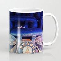 telephone Mugs featuring Telephone by Parastar Arts