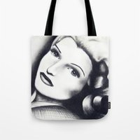 wasted rita Tote Bags featuring Rita by JezRebelle