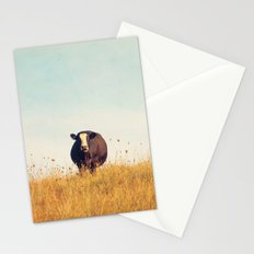 Moooo -- Autumn Landscape -- Cow in a Pasture Stationery Cards
