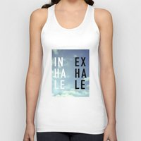 2pac Tank Tops featuring Inhale Exhale by Text Guy