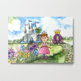 The Polka Dot Princess Metal Print