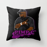chad wys Throw Pillows featuring Chad 'Pimp C' Butler by Chad Trutt