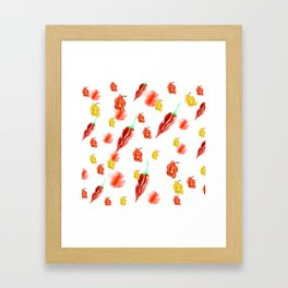 moving chilies Framed Art Print