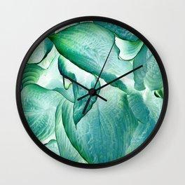 532 - Abstract hosta design Wall Clock