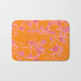 Floral trio tone photograph with orange and pinks Bath Mat