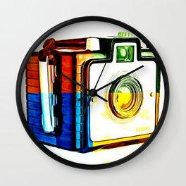 Box Camera Pop Art  Wall Clock