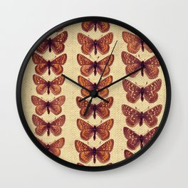 The Butterfly Collection 7 Wall Clock