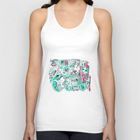 burger Tank Tops featuring Burger. by hawnuhlee