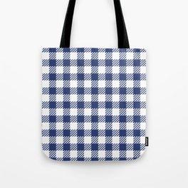 Blue Vichy Tote Bag