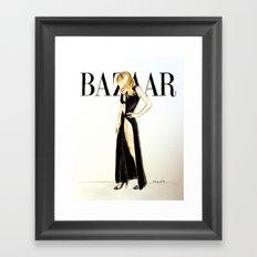 Harper's Bazaar Magazine Cover. Gwyneth Paltrow. Fashion Illustration Framed Art Print