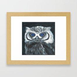 Black Owl Framed Art Print