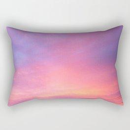 SUNSET AND POWERLINES Rectangular Pillow