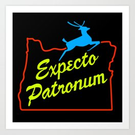Expecto Patronum Neon Sign Art Print