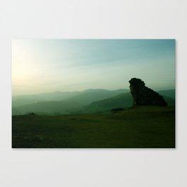 Sunset at Dinas Bran Canvas Print
