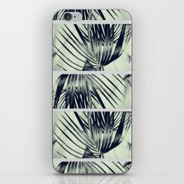 Green Palm Leaves Pattern #1 #decor #art #society6 iPhone Skin