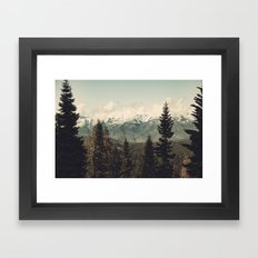 Snow capped Sierras Framed Art Print