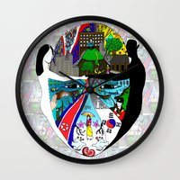 korea Wall Clocks featuring A trip to Korea  by doctusdesign