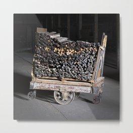 Line Berry Factory Cart 1 Metal Print