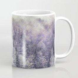 Suprise sunrise. Into the foggy woods. Coffee Mug