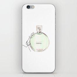 Green parfum with girl iPhone Skin