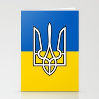 putin Stationery Cards featuring Ukrainian Sighn by NOT VERY ART