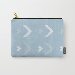 Chevron Blue Pattern Carry-All Pouch