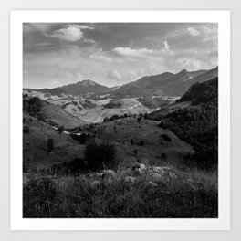 MOUNTAINS ARE SMILING Art Print