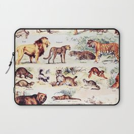 Vintage Antique Wildlife Encyclopedia Print Laptop Sleeve