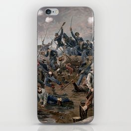 Vintage Lithograph of the Battle of Spotsylvania iPhone Skin