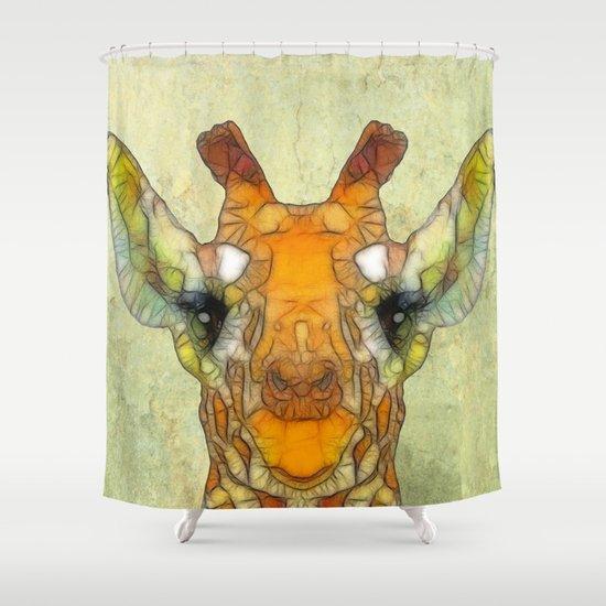 abstract giraffe calf Shower Curtain