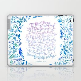 Christ lives in Me - Galatians 2:20 Laptop & iPad Skin