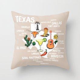 Classic Texas Icons Throw Pillow
