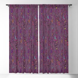 Deep Purple Doodles Abstract Watercolor Blackout Curtain