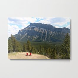 Enjoying The Beautiful View Metal Print