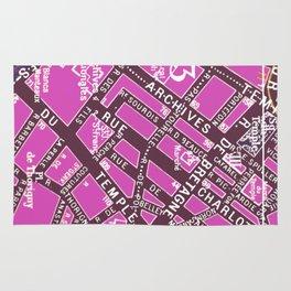 Paris in Pink Rug