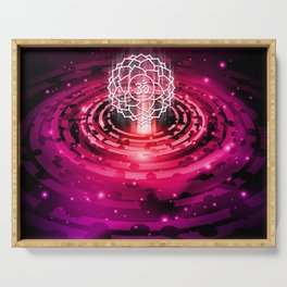 Cosmic Crown Chakra - v2.0 Serving Tray
