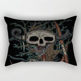 skull on a pike Rectangular Pillow