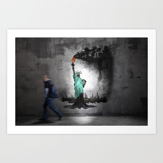 Liberty oil Graffiti Art Print