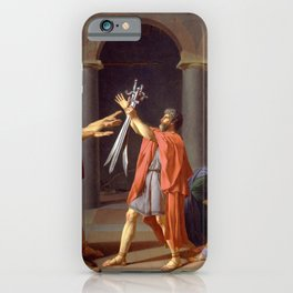 Oath of the Horatii by Jacques-Louis David iPhone Case