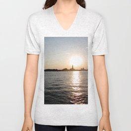 sunset - venice Unisex V-Neck