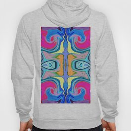 96 - Colour abstract pattern Hoody