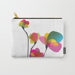 Abstract summer wildflowers Carry-All Pouch