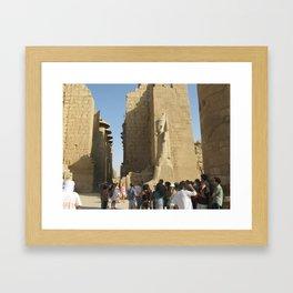 Temple of Karnak at Egypt, no. 5 Framed Art Print