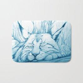Bobcat nap Bath Mat