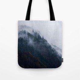 mountain wall Tote Bag