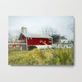 Red Barn 4 #painting Metal Print