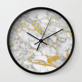 Gold Flecked Marble Wall Clock